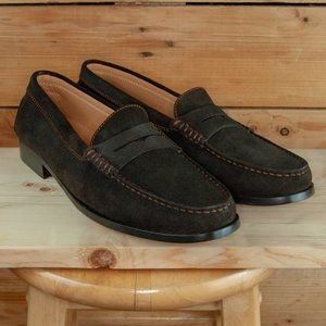 Tod's Brown Suede Driving Penny Loafers- W's 11